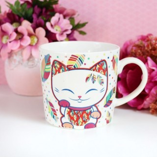 Tasse Mani The Lucky Cat Plume