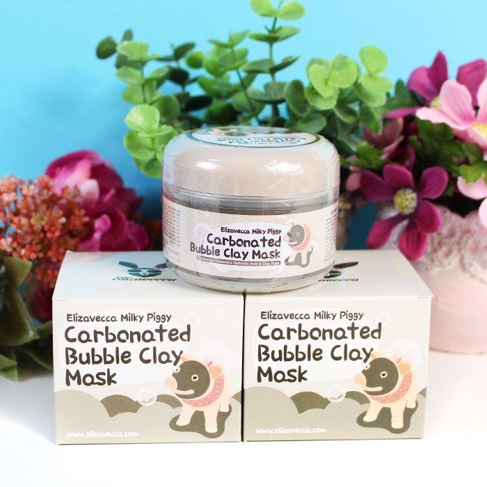Carbonted Bubble Clay Mask ELIZAVECCA : Masque moussant au carbone