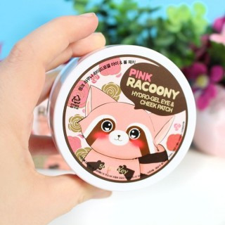 Pink Racoony Hydro Gel Eye & Cheek Patch : Patch hydratant joues et  yeux