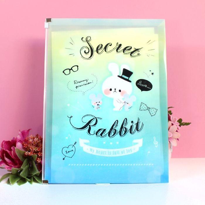 Pochette plastique A4 Secret Rabbit