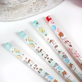 Lot de 4 Crayons à Papier Hamster Life de Kamio