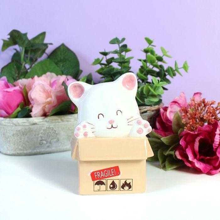 Tirelire Cat In a Box