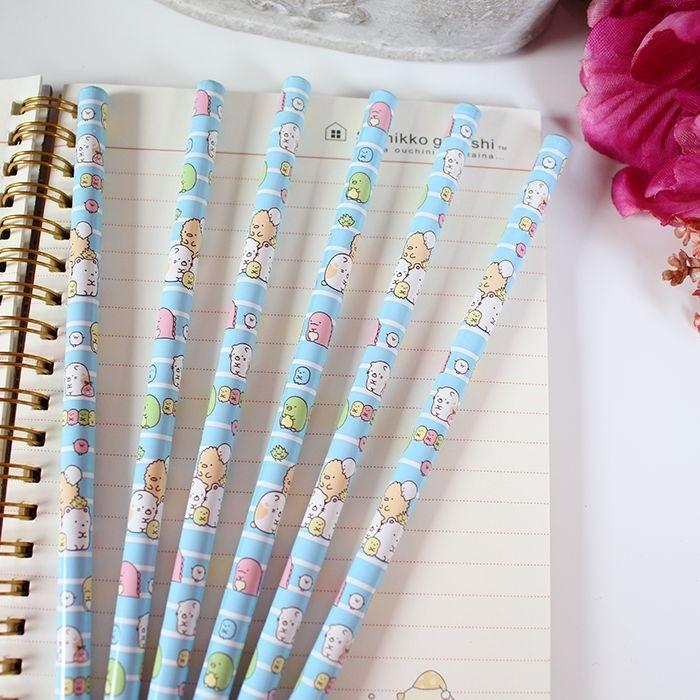 Crayon à Papier Sumikko Gurashi Bleu rayé