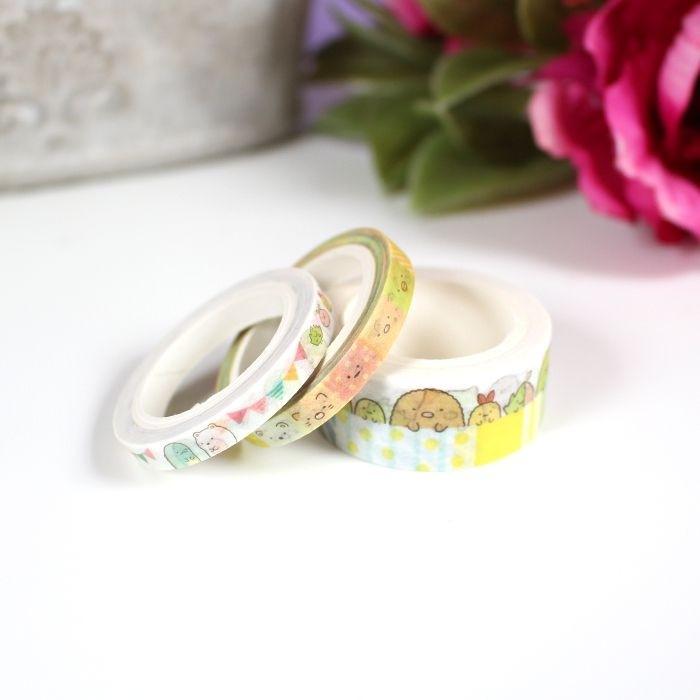 Washi Tape Set Sumikko Gurashi (jaune)
