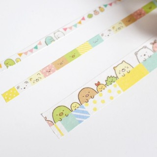 Washi Tape Set Sumikko Gurashi (jaune)