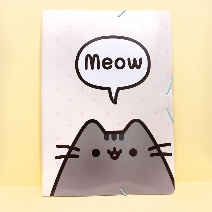 Pochette plastique rabat Pusheen Meow