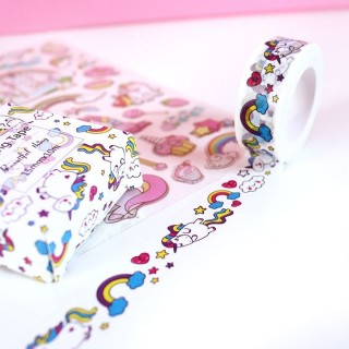Washi Tape Licorne Arc-en-ciel