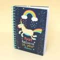 Carnet Licorne - Just Believe in your Dreams (A5)