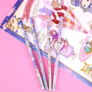 Lot 4 crayons à papier Sentimental Circus