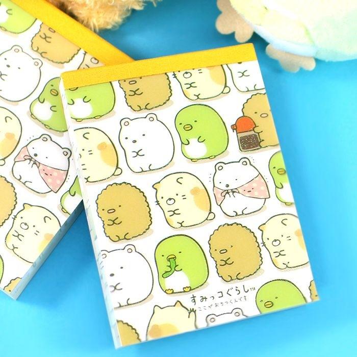 Mini Bloc Note Sumikko Gurashi - Tous unis