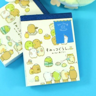 Mini Bloc Note Sumikko Gurashi - Au bain