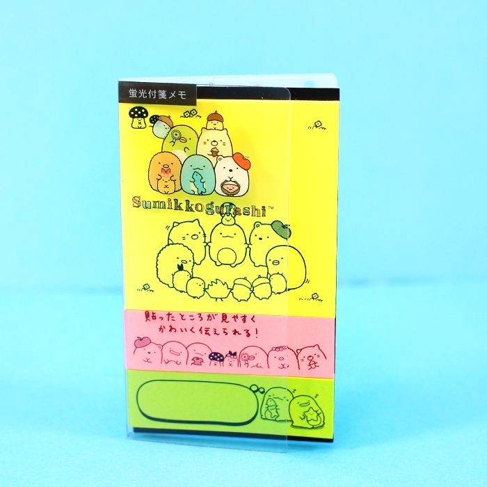 Post-it Sumikko Gurashi Fluo 3 designs - Jaune / Tamtokki.com - Boutique Kawaii en France IM#5586