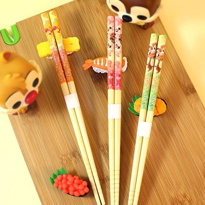 Lot de 3 paires de Baguettes Mickey - Tic et Tac - Winnie