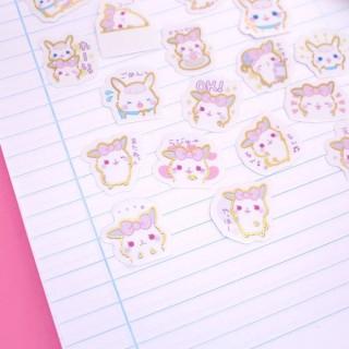 Pochette Organza de Stickers Lapins