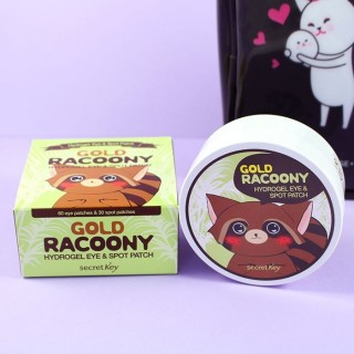 Gold Racoony Hydro Gel Eye & Spot trouble : Patch hydratant yeux et  bouton