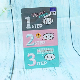 Pig Nose Clear Black Head 3 step kit  Holika Holika