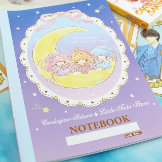 Cahier Card Captor Sakura X Little Twin Stars - Bleu