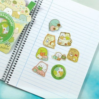 Pochette Stickers Sumikko Gurashi - Coffee Shop