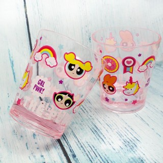 Verre Super Nanas Crystal Color Rose / Tamtokki.com - Boutique Kawaii en France IM#7216