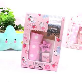 Cadeau Kawaii Set de Papeterie Animal Lesson - Penguin