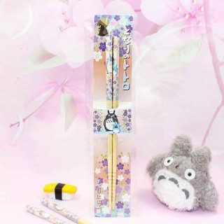 Baguettes Totoro - Fleurs de Sakura Violet / Tamtokki.com - Boutique Kawaii en France IM#8026