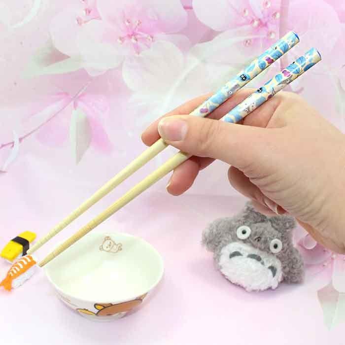 Baguettes Totoro - Feuilles Bleues / Tamtokki.com - Boutique Kawaii en France IM#8033
