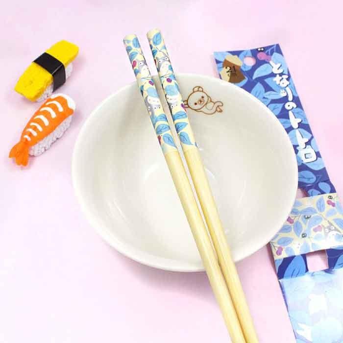 Baguettes Totoro - Feuilles Bleues / Tamtokki.com - Boutique Kawaii en France IM#8034