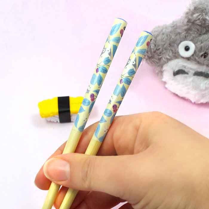 Baguettes Totoro - Feuilles Bleues / Tamtokki.com - Boutique Kawaii en France IM#8036