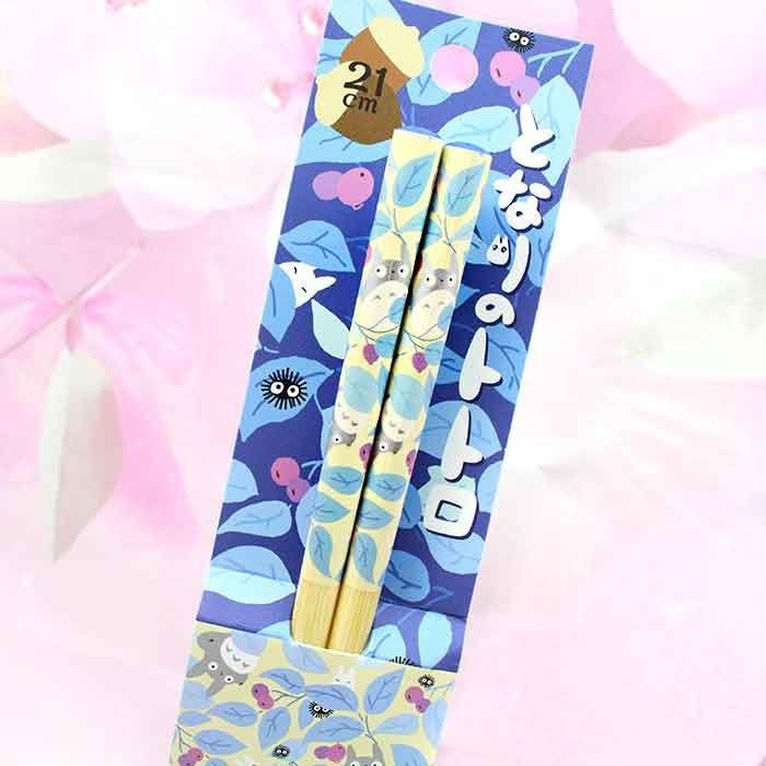 Baguettes Totoro - Feuilles Bleues / Tamtokki.com - Boutique Kawaii en France IM#8038