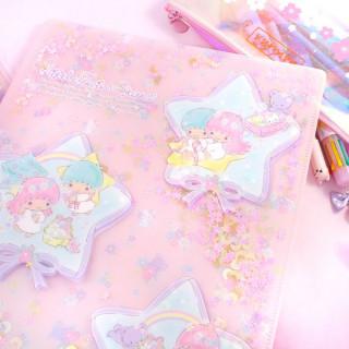 Pochette Plastique Sanrio Little Twin Stars - Etoiles Pailletées / Tamtokki.com - Boutique Kawaii en France IM#8431
