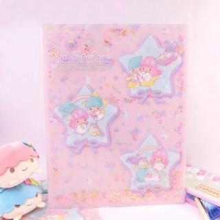 Pochette Plastique Sanrio Little Twin Stars - Etoiles Pailletées / Tamtokki.com - Boutique Kawaii en France IM#8433