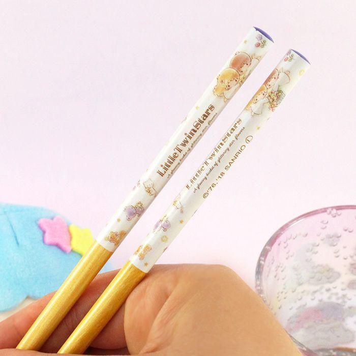 Baguettes Sanrio Little Twin Stars - A glowing Basket of Glittering Flowers / Tamtokki.com - Boutique Kawaii en France IM#8449