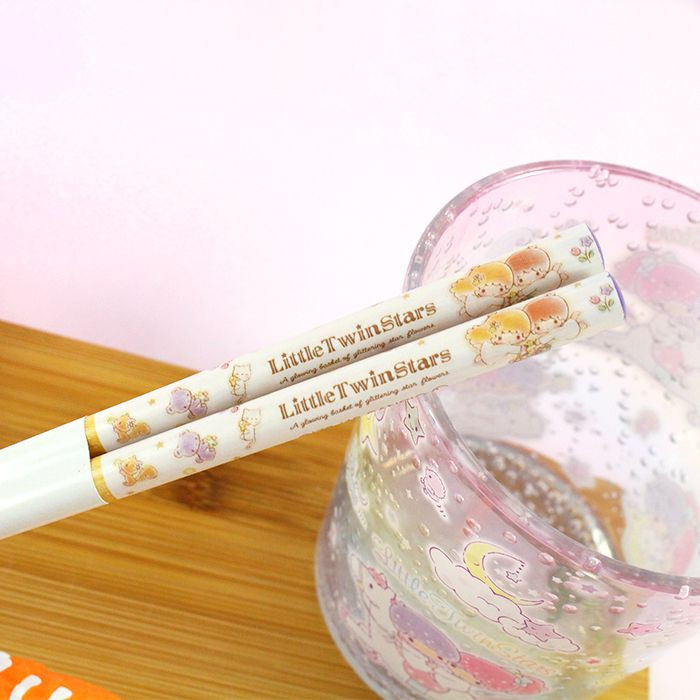 Baguettes Sanrio Little Twin Stars - A glowing Basket of Glittering Flowers / Tamtokki.com - Boutique Kawaii en France IM#8450
