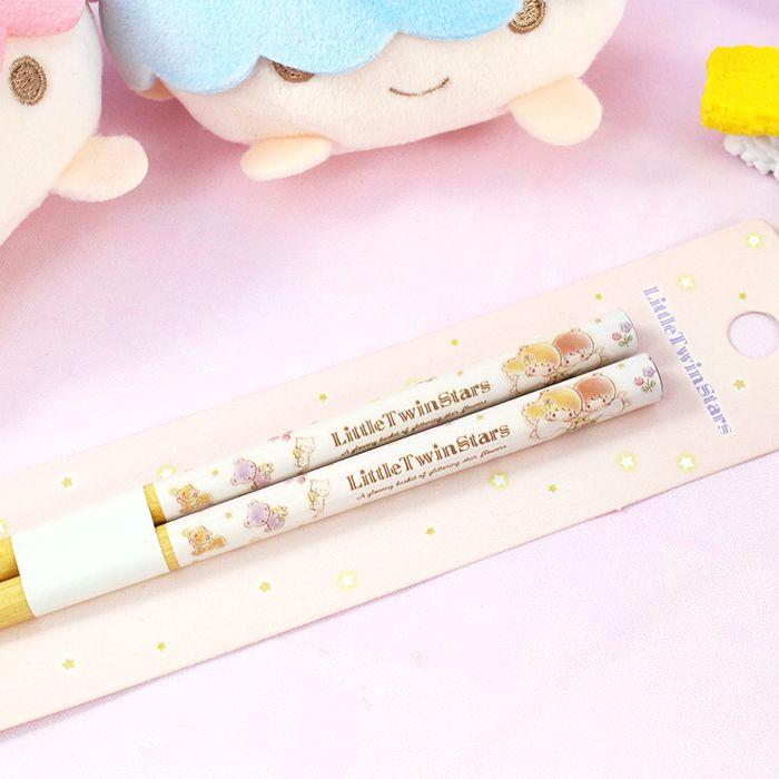 Baguettes Sanrio Little Twin Stars - A glowing Basket of Glittering Flowers / Tamtokki.com - Boutique Kawaii en France IM#8451