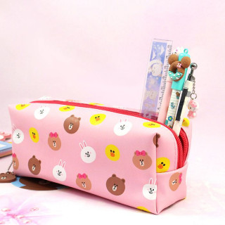 Trousse Line Friends Rose / Tamtokki.com - Boutique Kawaii en France IM#8807