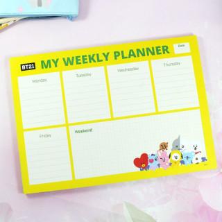 Weekly Planner BT21 / Tamtokki.com - Boutique Kawaii en France IM#8827