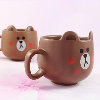 Mug Line Friends Brown / Tamtokki.com - Boutique Kawaii en France IM#8844