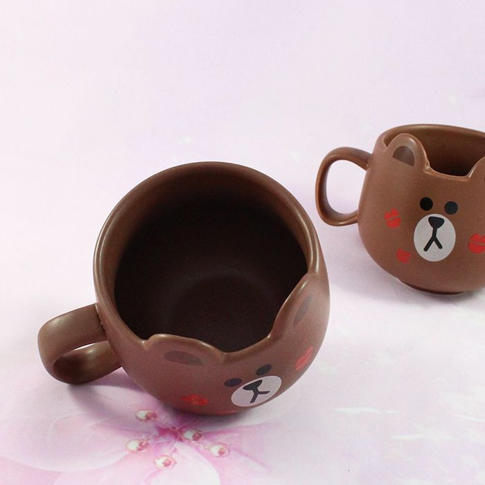 Mug Line Friends Brown / Tamtokki.com - Boutique Kawaii en France IM#8845