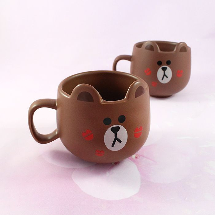 Mug Line Friends Brown / Tamtokki.com - Boutique Kawaii en France IM#8846