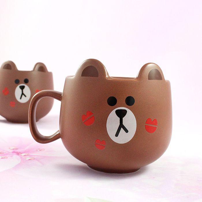 Mug Line Friends Brown / Tamtokki.com - Boutique Kawaii en France IM#8848