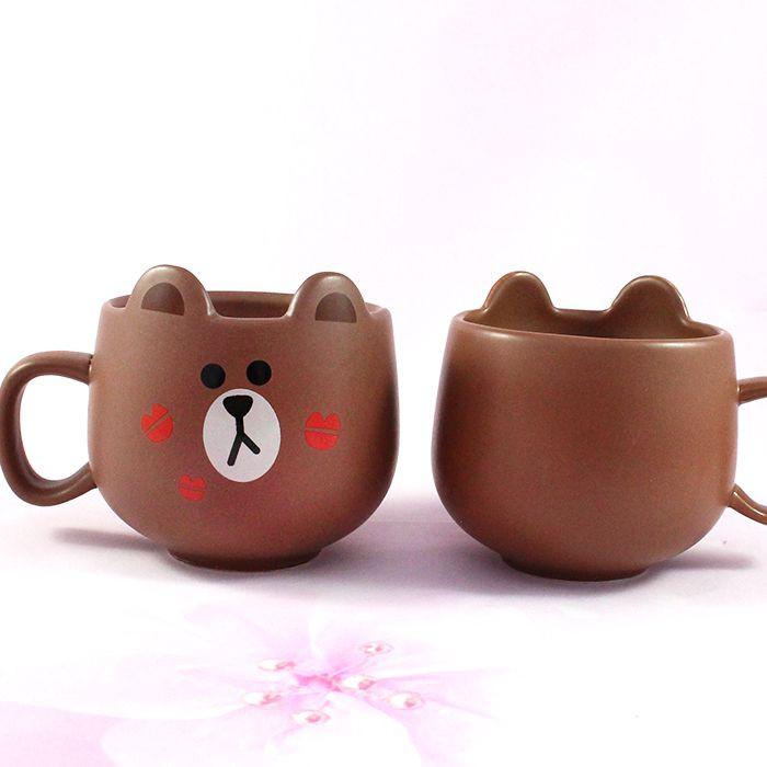 Mug Line Friends Brown / Tamtokki.com - Boutique Kawaii en France IM#8849