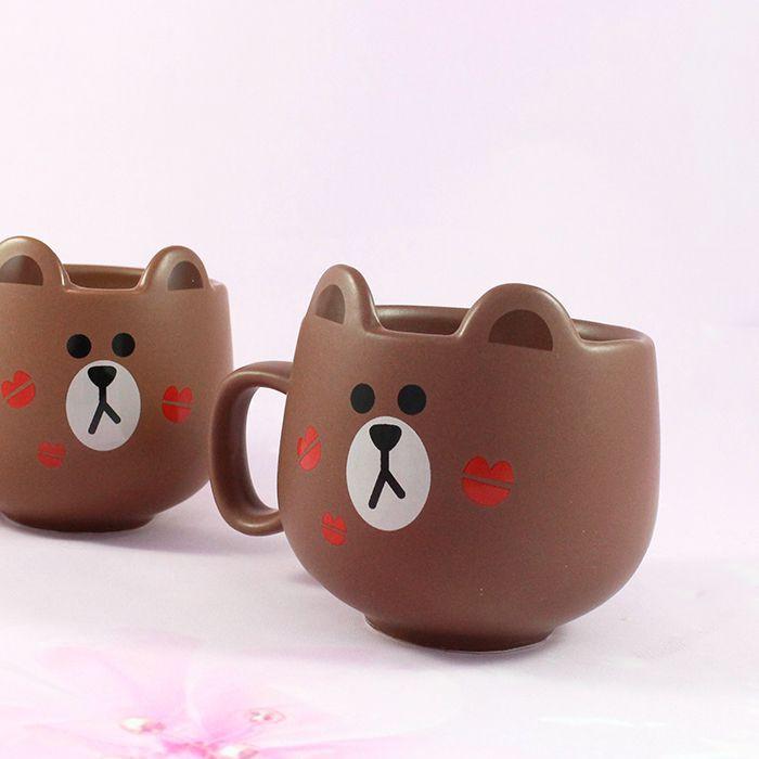 Mug Line Friends Brown / Tamtokki.com - Boutique Kawaii en France IM#8850