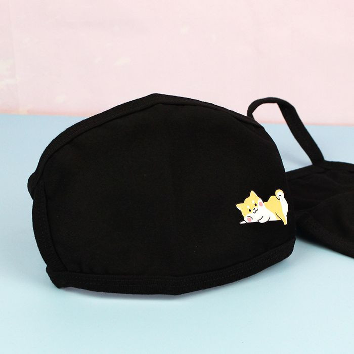 Masque Visage Tissu Petit Shiba  sur Tamtokki Boutique Kawaii