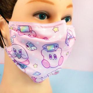 Masque Visage Tissu Kirby - Gaming  sur Tamtokki Boutique Kawaii