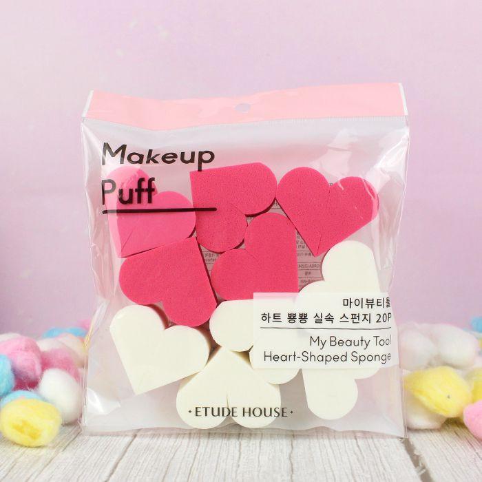 ETUDE HOUSE - My Beauty Tool Heart Shaped Sponge - 20 éponges maquillages  sur Tamtokki Boutique Kawaii