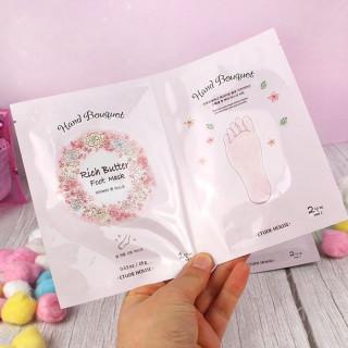 ETUDE HOUSE Hand Bouquet Rich Butter Foot Mask - Masque pour les Pieds / Tamtokki.com - Boutique Kawaii en France IM#9802