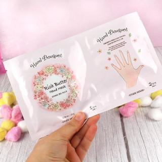 ETUDE HOUSE Hand Bouquet Rich Butter Hand Mask Sheet - Masque pour les Mains / Tamtokki.com - Boutique Kawaii en France IM#9808