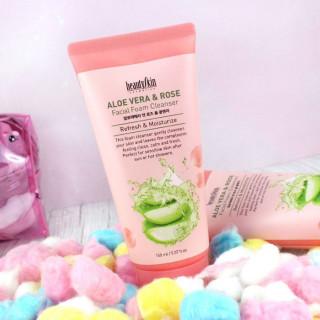 BEAUTY SKIN - Aloe Vera And Rose Foam Cleanser - Nettoyant Visage  / Tamtokki.com - Boutique Kawaii en France IM#9844