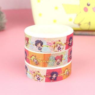 Washi Tape Sailor Moon - Colorful / Tamtokki.com - Boutique Kawaii en France IM#9943