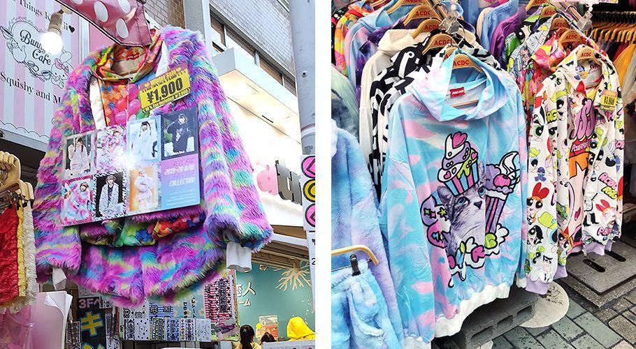 La mode très coloré de Harajuku